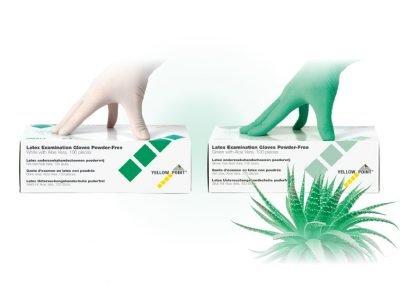 Latex Examonation Gloves – powder-free with aloe vera